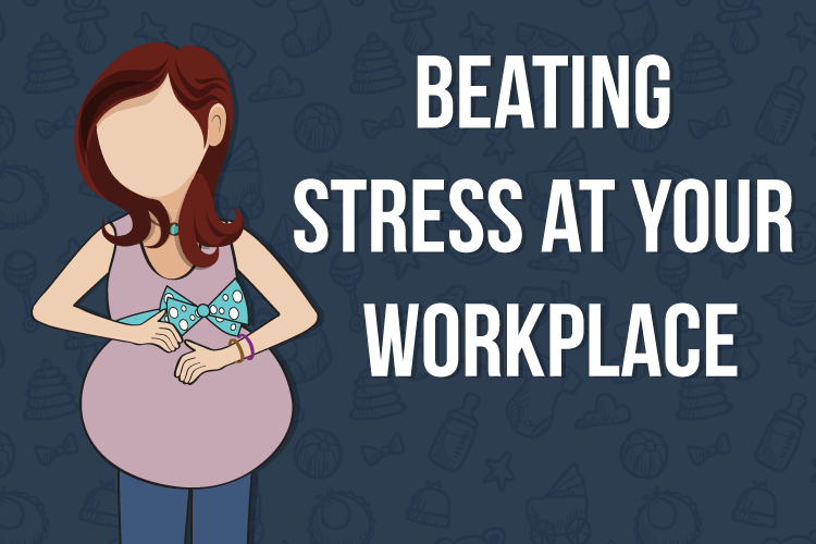 5-Ways-to-Beat-Stress-at-the-Workplace-for-Working-Moms-to-be-cover